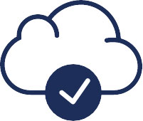 Cloud and checkmark